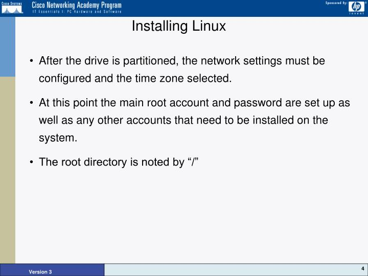 Installing Linux