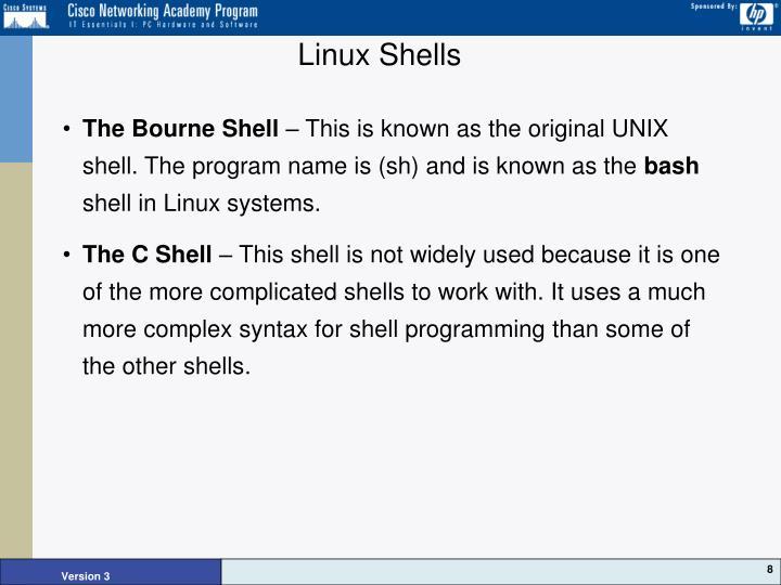 Linux Shells