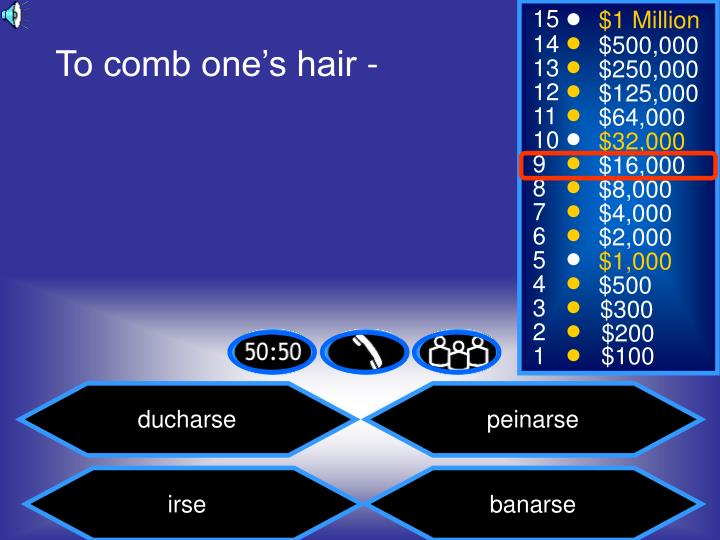 To comb one's hair -