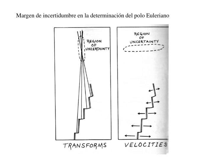 Margen de incertidumbre en la determinación del polo Euleriano