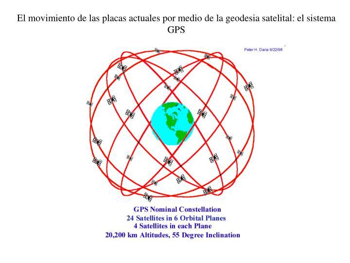 El movimiento de las placas actuales por medio de la geodesia satelital: el sistema GPS