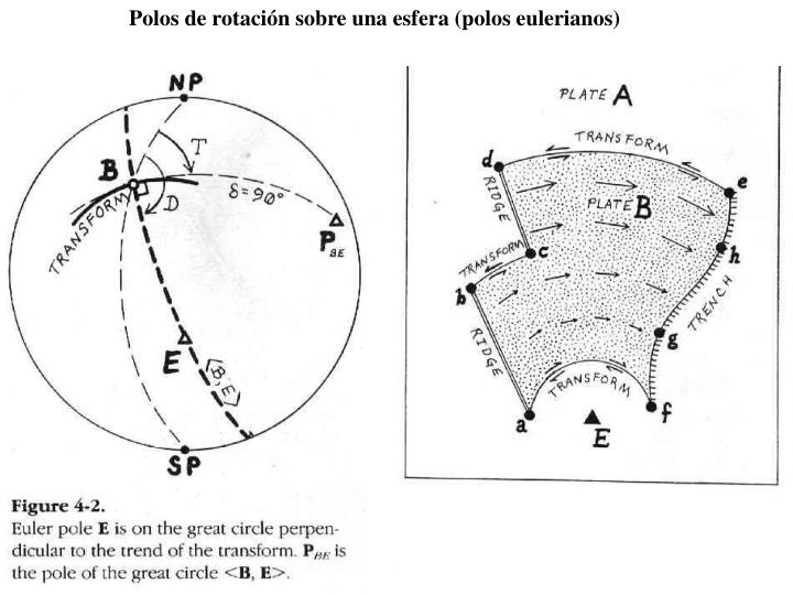 Polos de rotación sobre una esfera (polos eulerianos)