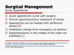 surgical management acute appendicitis