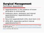 surgical management perforated appendicitis