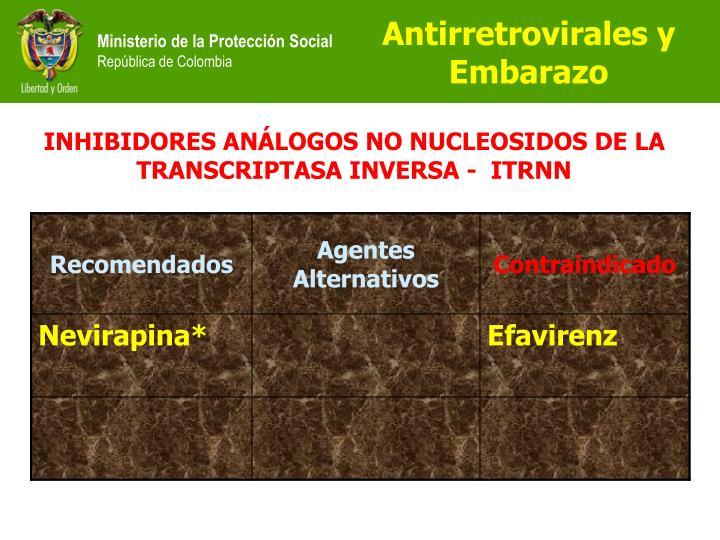 Antirretrovirales y  Embarazo