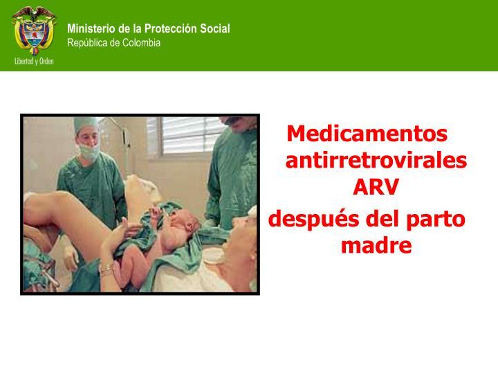 Medicamentos  antirretrovirales ARV