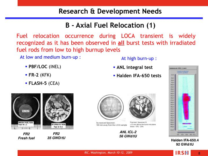 Research & Development Needs