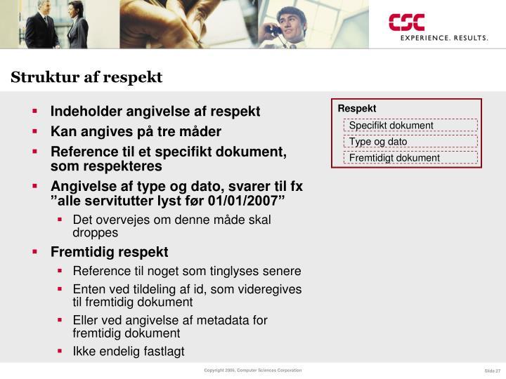 Struktur af respekt