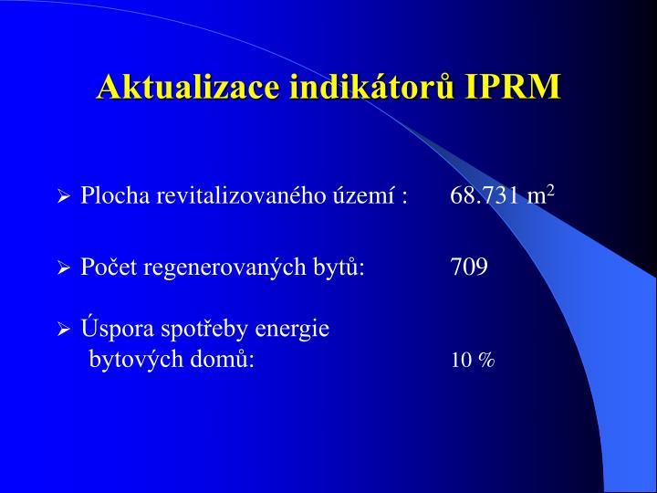 Aktualizace indikátorů IPRM