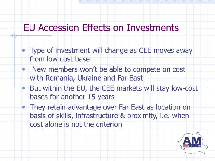 EU Accession Effects on Investments