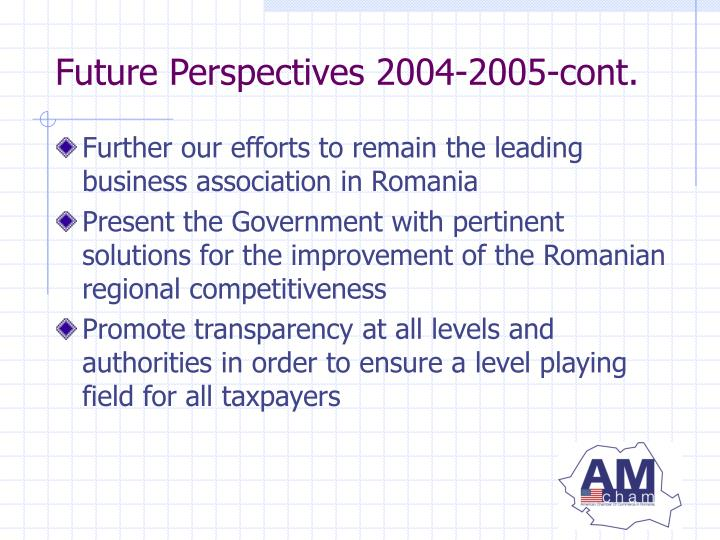 Further our efforts to remain the leading business association in Romania