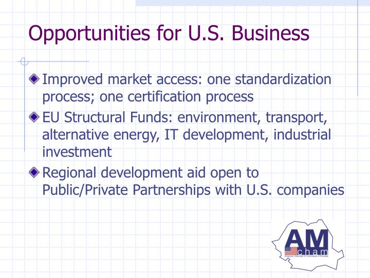 Opportunities for U.S. Business