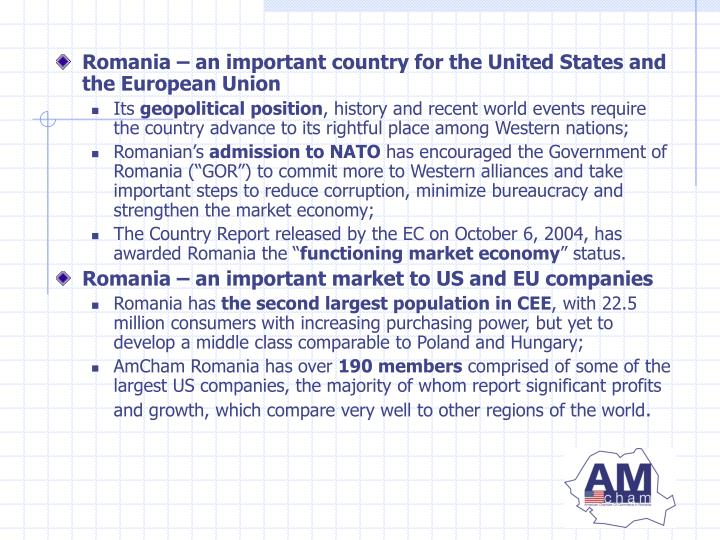 Romania – an important country for the United States and the European Union