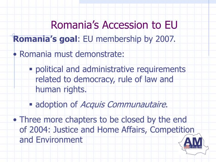 Romania's Accession to EU