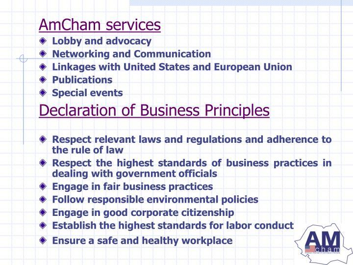 AmCham services