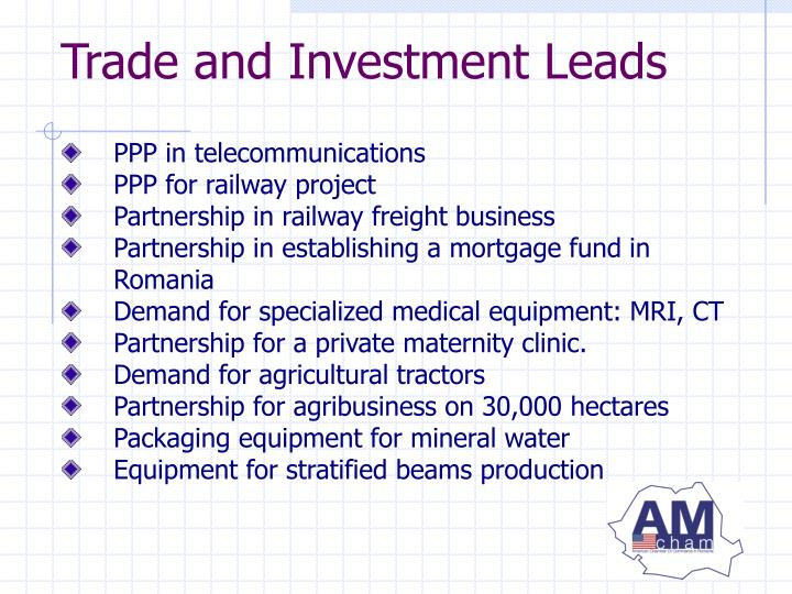 Trade and Investment Leads