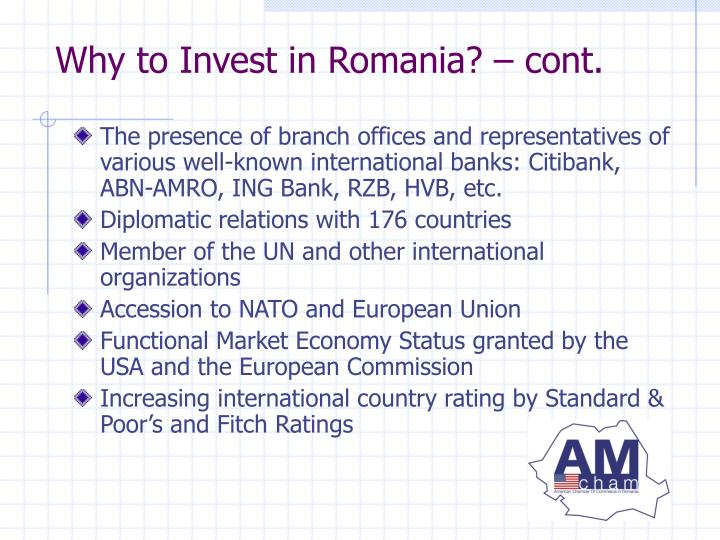 Why to Invest in Romania? – cont.