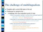 the challenge of multilingualism1
