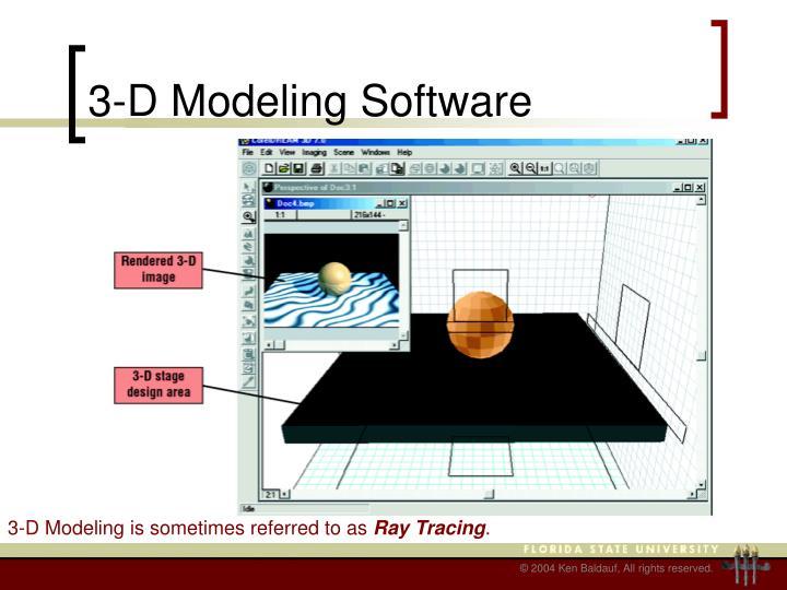 3-D Modeling Software