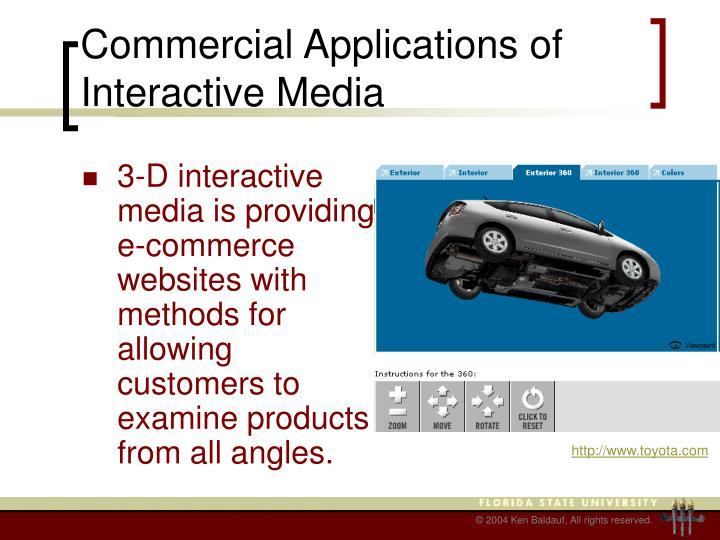 Commercial Applications of Interactive Media