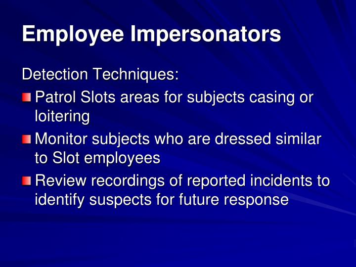 Employee Impersonators
