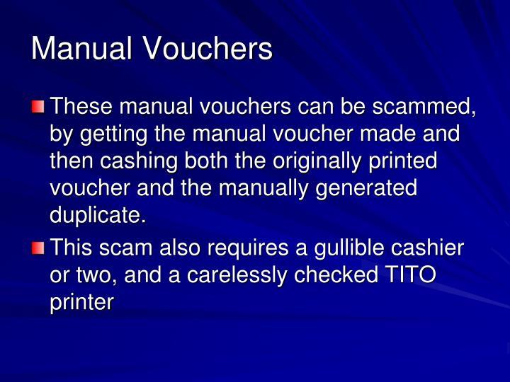 Manual Vouchers