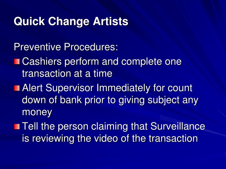 Quick Change Artists