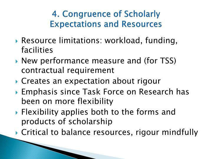 4. Congruence of Scholarly