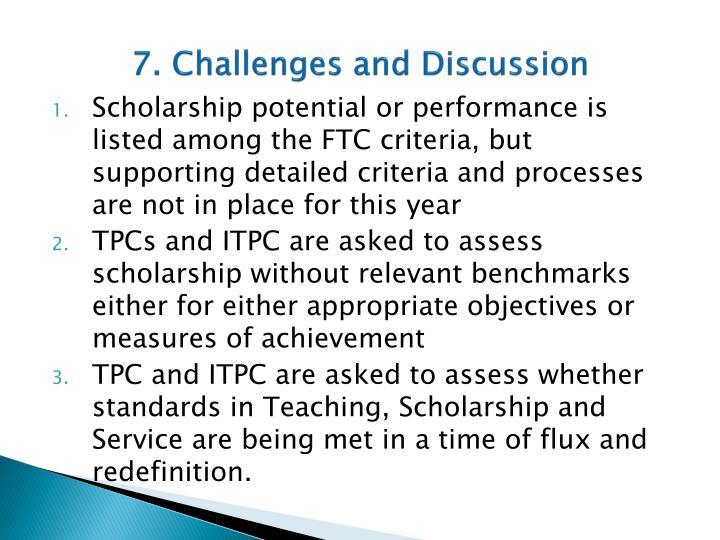 7. Challenges and Discussion
