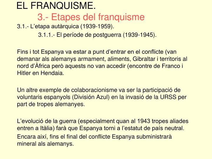 EL FRANQUISME.