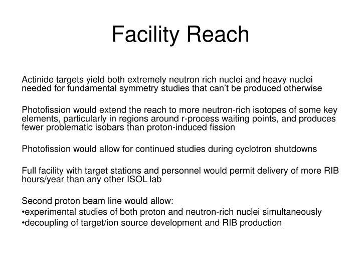 Facility Reach