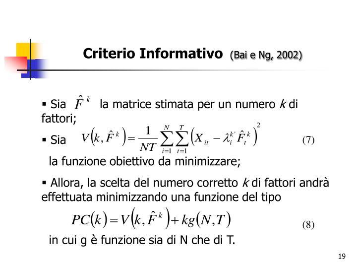 Criterio Informativo