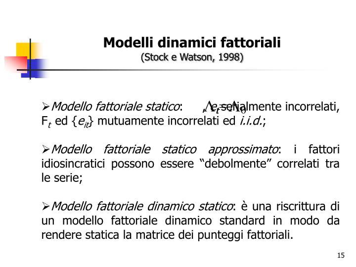Modelli dinamici fattoriali