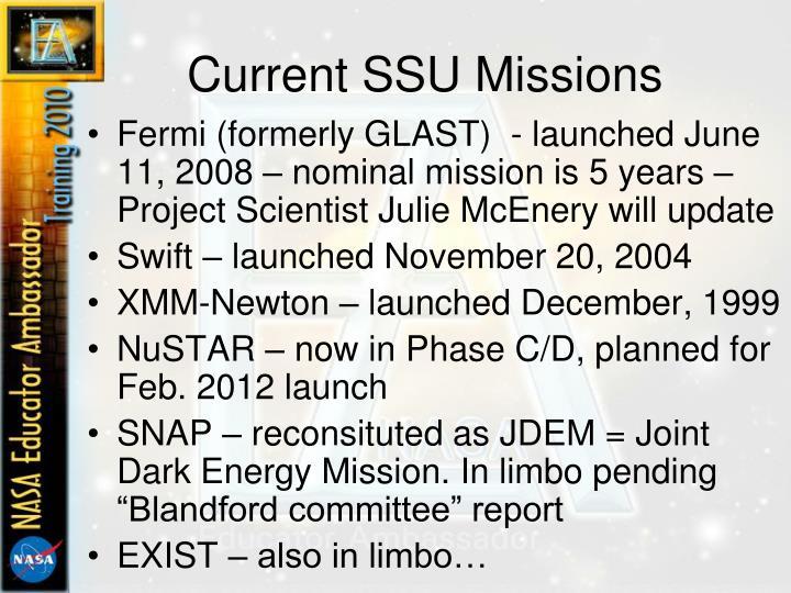 Current SSU Missions