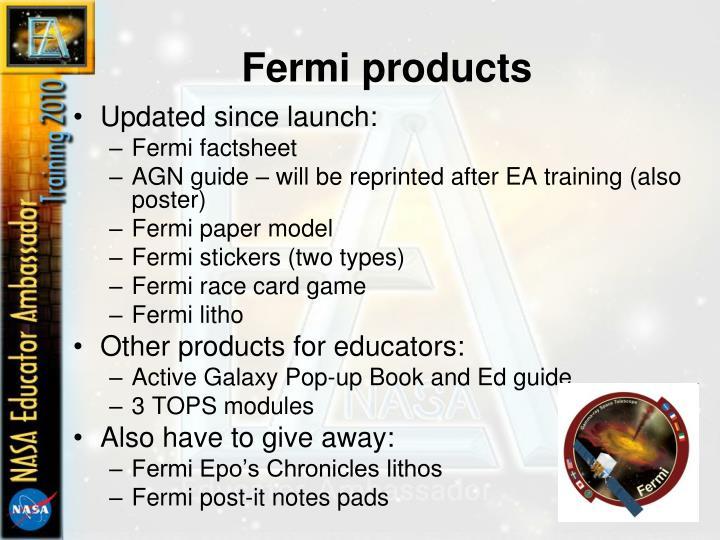 Fermi products