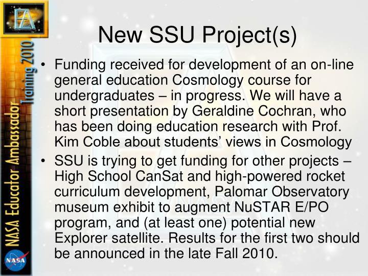 New SSU Project(s)