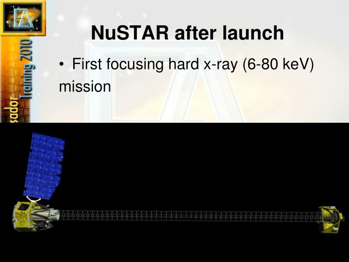 NuSTAR after launch
