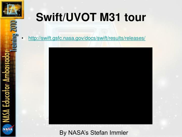 Swift/UVOT M31 tour