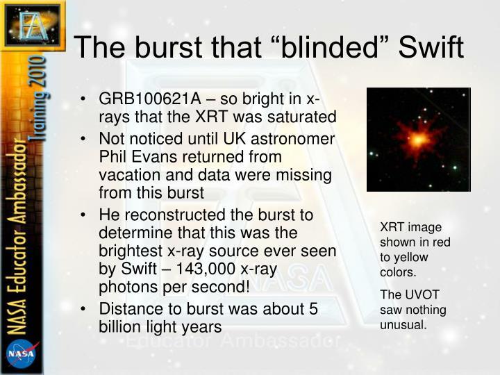 "The burst that ""blinded"" Swift"
