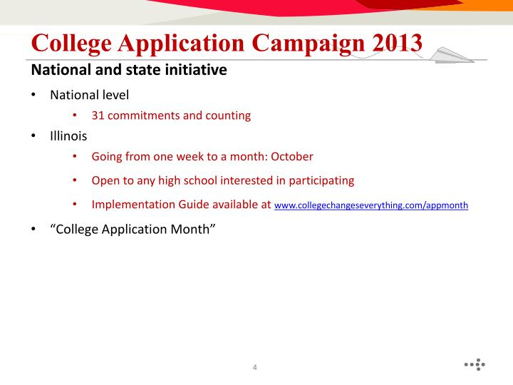 College Application Campaign 2013