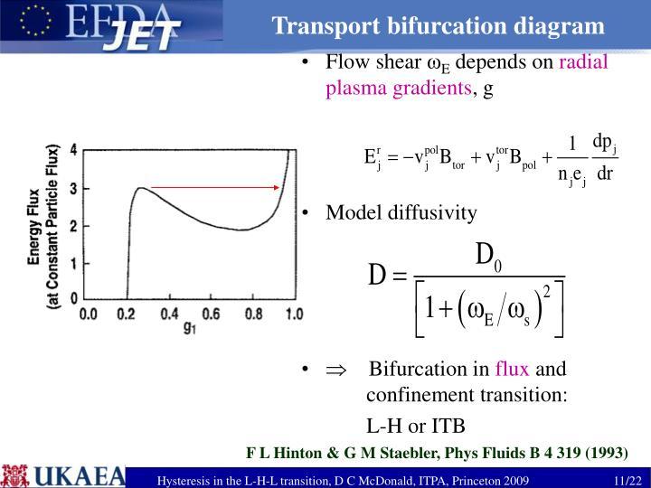 Transport bifurcation diagram