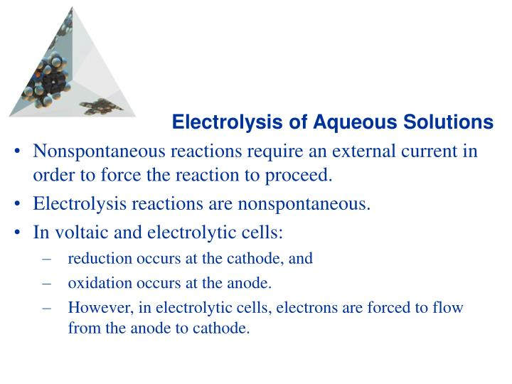 Electrolysis of Aqueous Solutions