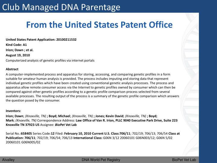 Club Managed DNA Parentage