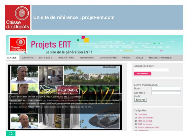 Un site de référence : projet-ent.com