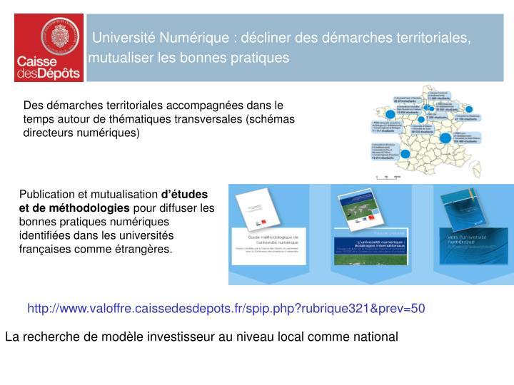 Université Numérique : décliner des démarches territoriales, mutualiser les bonnes pratiques