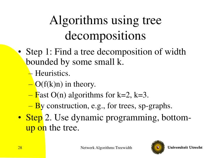 Algorithms using tree decompositions