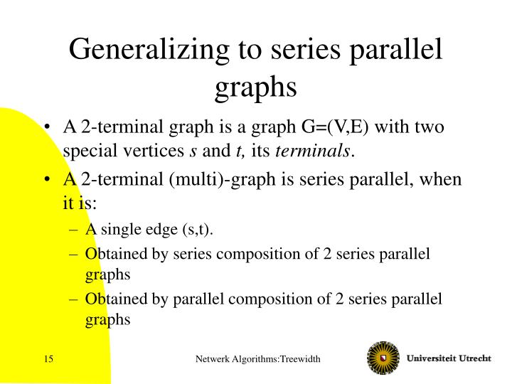 Generalizing to series parallel graphs
