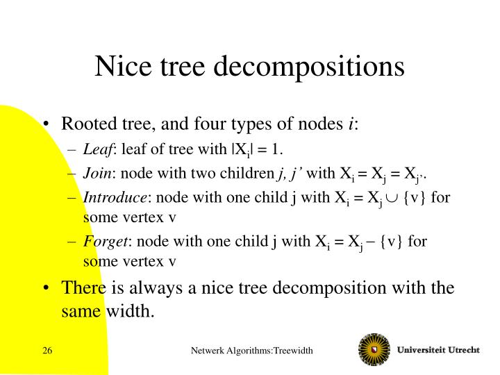 Nice tree decompositions