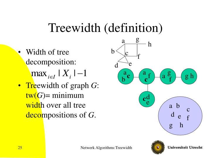 Treewidth (definition)