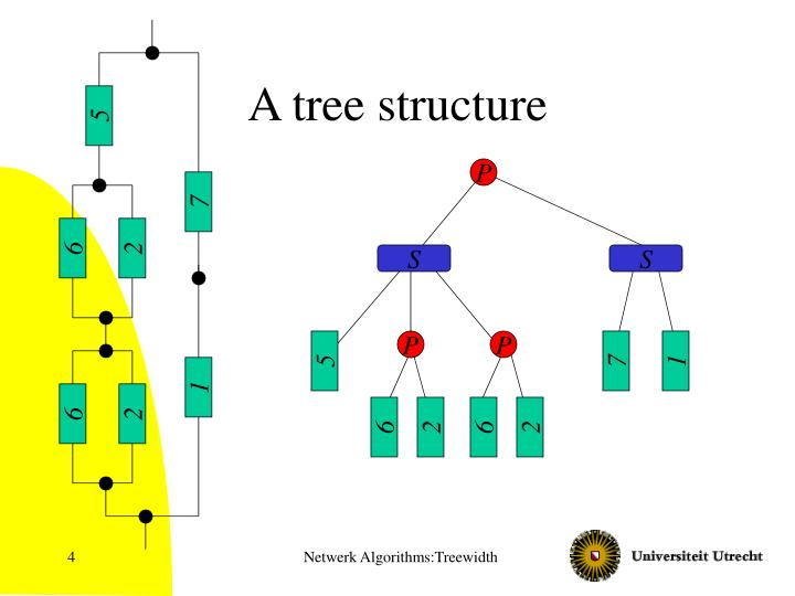 A tree structure